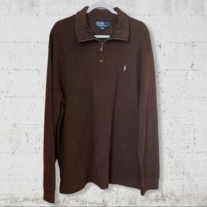 Ralph Lauren Long Sleeve Zip Neck Shirt SZ XXL